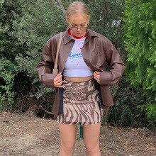 Hip-Skirt Street-Hipster Printing Female Girl Package Tight Annual-Ring Wind-Irregular