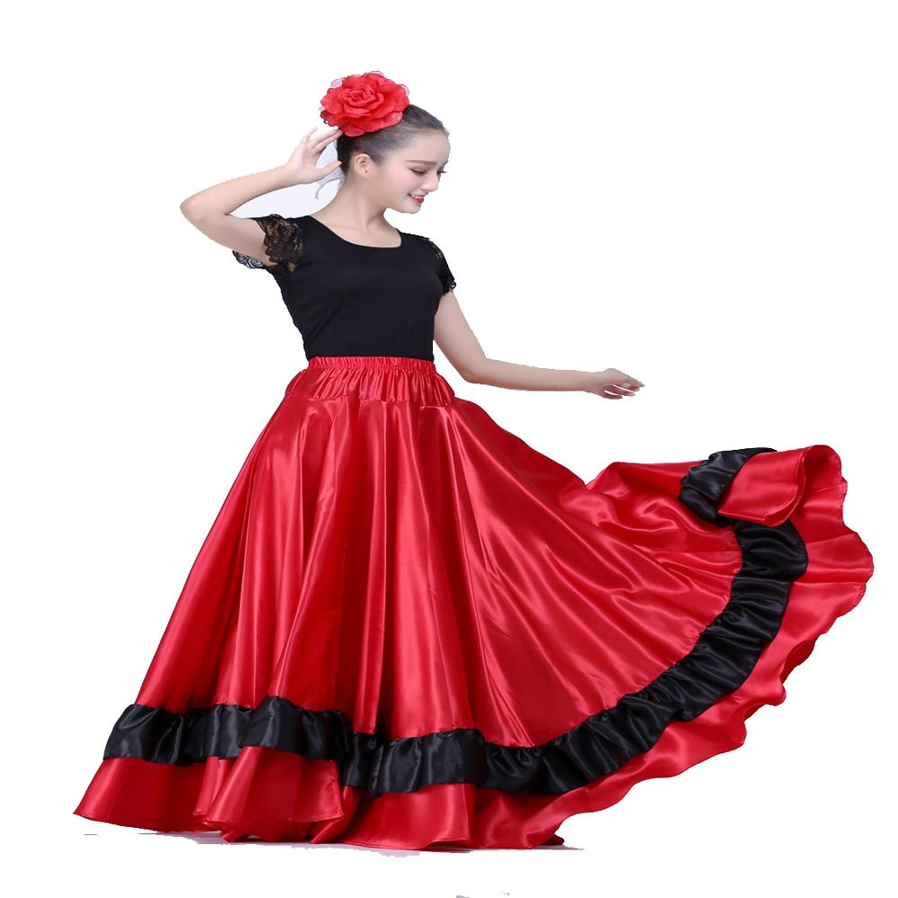 Spanish Flamenco Skirt Belly Dance Skirt Spanish Dance Costumes Brazil Dance Costume Gypsy Ro Flamenco Dress Dropshipping