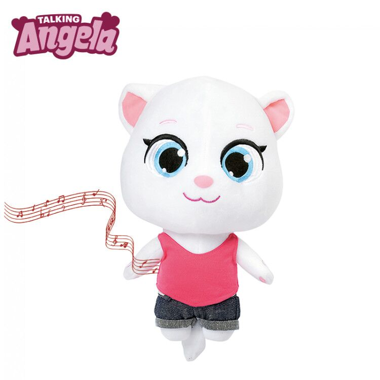 Electronic Vocal Plush Cat Toys Stuffed Talking Angela Cat Talking Tom And Friends Soft Dolls Sounding Birthday Gift For Kids
