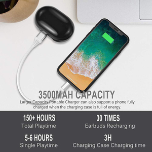 Image 5 - אמיתי אלחוטי Bluetooth אוזניות IPX8 עמיד למים אלחוטי Bluetooth אוזניות אוטומטי זיווג HD קול אוזניות 3500mAh תשלום תיבה