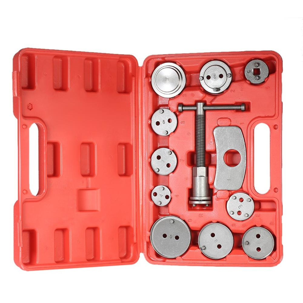 12pcs Auto Universal Disc Brake Caliper Car Wind Back Pad Piston Compressor Automobile Garage Repair Tool Kit