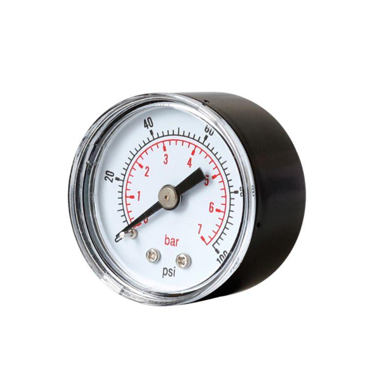 Pressure Gauge 40mm 1/8 BSPT Rear Back 15-300 PSI & Bar For Air Gas Wate Fuel