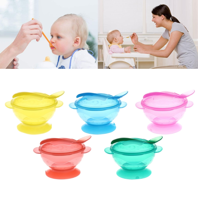 Slip-resistant Wall Suction Child Tableware Baby Kids Sucker Dishes Gravity Bowl