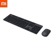 Xiaomi teclado e mouse sem fio original, conjunto de 104 teclas, teclado 2.4 ghz, receptor usb, mouse para pc, windows 10