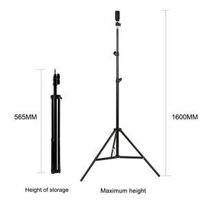 Image 5 - 11.8in 2700 5500K 24W 180Pcs Led Video Ring Licht Fill In Lamp Dimbare + Telefoon houder 2 Stuks Bal Koppen Voor Fotografie Verlichting