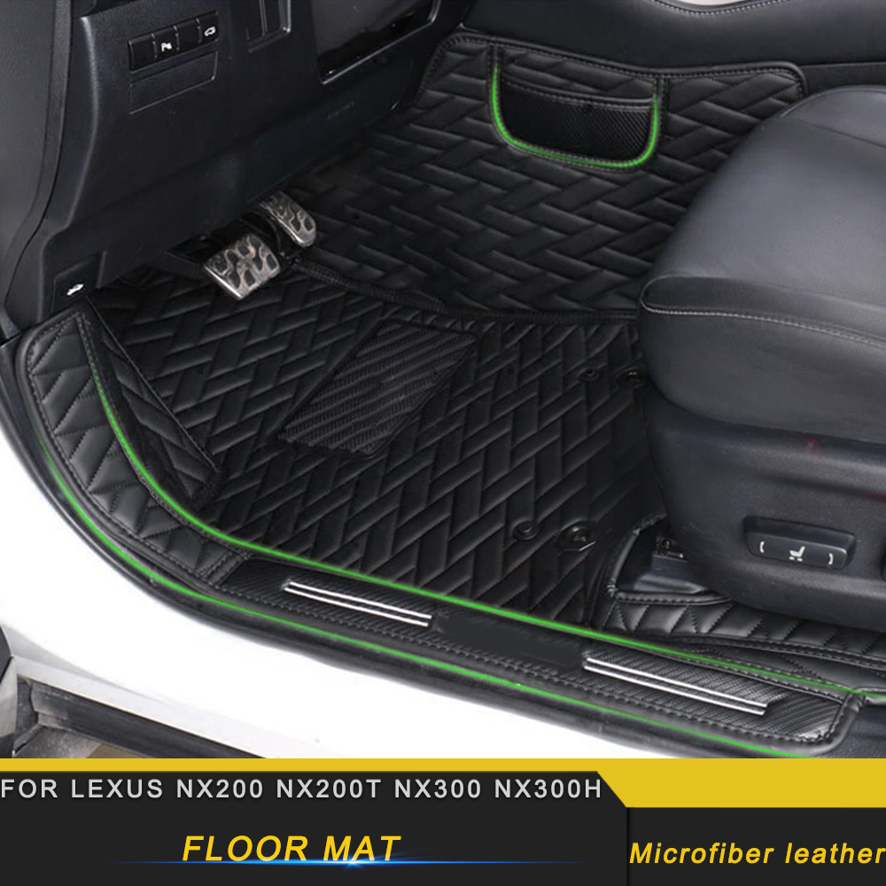 For <font><b>LEXUS</b></font> NX200 NX200t NX300 <font><b>NX300h</b></font> Car Double Layers Wire Leather <font><b>Floor</b></font> Protector Cover <font><b>Mat</b></font> Pad Carpet Accessories image