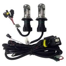 цена на 35W New Wire Harness for Car HID Bi-xenon Headlight Bulbs Conversion Kit H4 Hi/lo HID Lamp Relay Harness