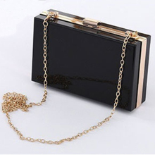 New Acrylic Box Transparent Women Clutch Bag Brand Ladies Ev