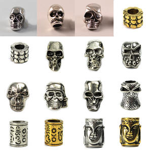 Pendant-Buckle Knife Paracord Bracelet Lanyards-Decoration Skull Charms New 2pcs Metal