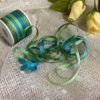 J1053 A Roll Wholesale 2mm-36mm 100% Pure Silk Embroidery Ribbons Handcraft Supply Double Faced Thin Taffeta Silk Ribbon