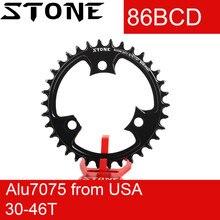 حجر 86 BCD سلسلة مستديرة ل k force SLK 30t 32t 34t 36t 38t 42 46 48T لوحة الأسنان ضيقة واسعة الدراجة سلسلة 86bcd k force