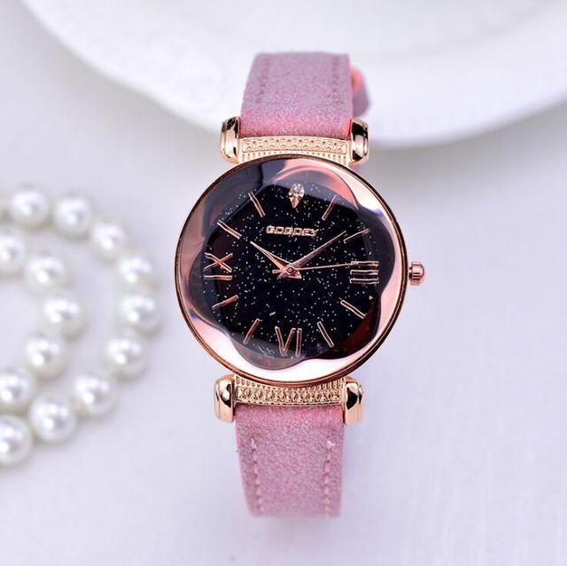 2019 New Fashion Gogoey Brand Starry Sky Leather Watches Women ladies casual dress quartz wristwatch reloj mujer go4417 2