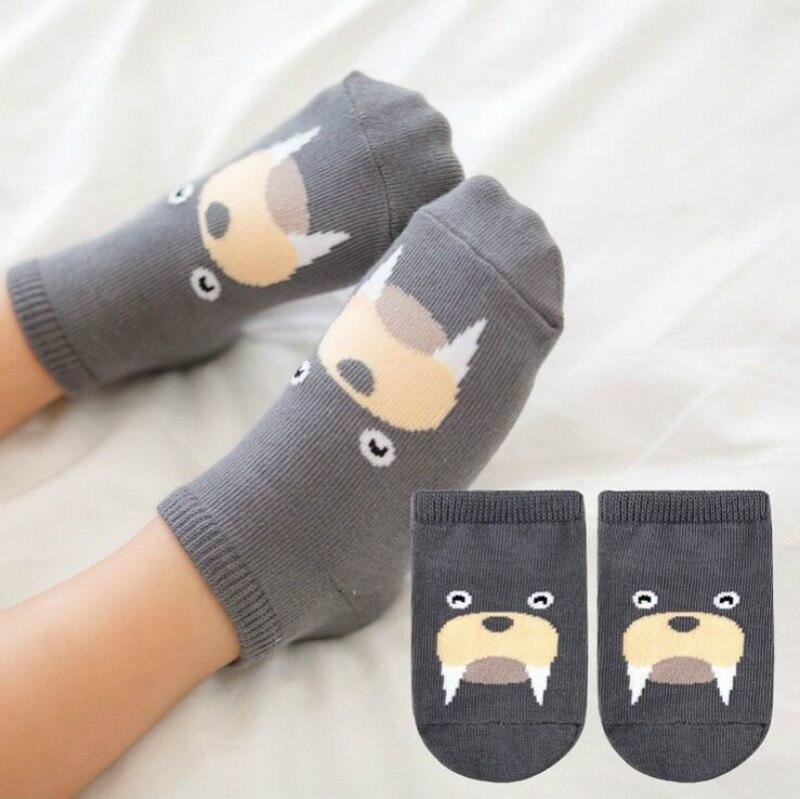 1шт стерео зверька нет-шоу носки нескользящие хлопок носки корейский мультфильм носки Детские хлопок детские нескользящей Детские носки