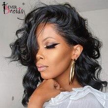 13x4 onda do corpo frente do laço perucas de cabelo humano para preto feminino seda parte superior do laço frontal peruca pré arrancadas sempre lojas de beleza