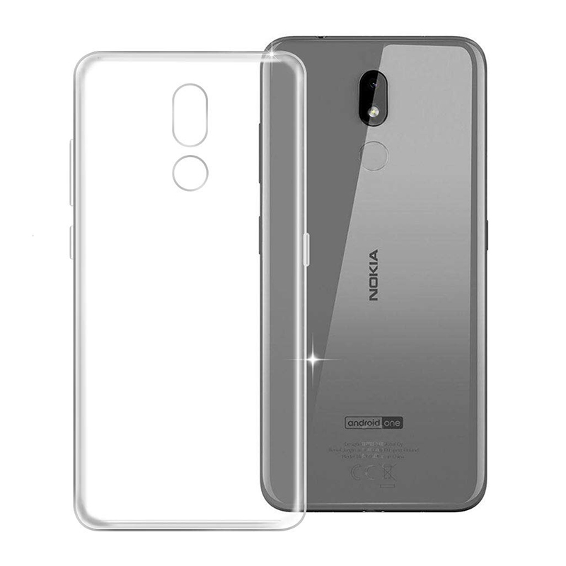 <font><b>2019</b></font> Clear Soft Silicone TPU Cases for <font><b>Nokia</b></font> <font><b>3.2</b></font> 3V Phone Back Cover Transparent Full Protective Shockproof Nokia3.2 Nokia3V Bag image