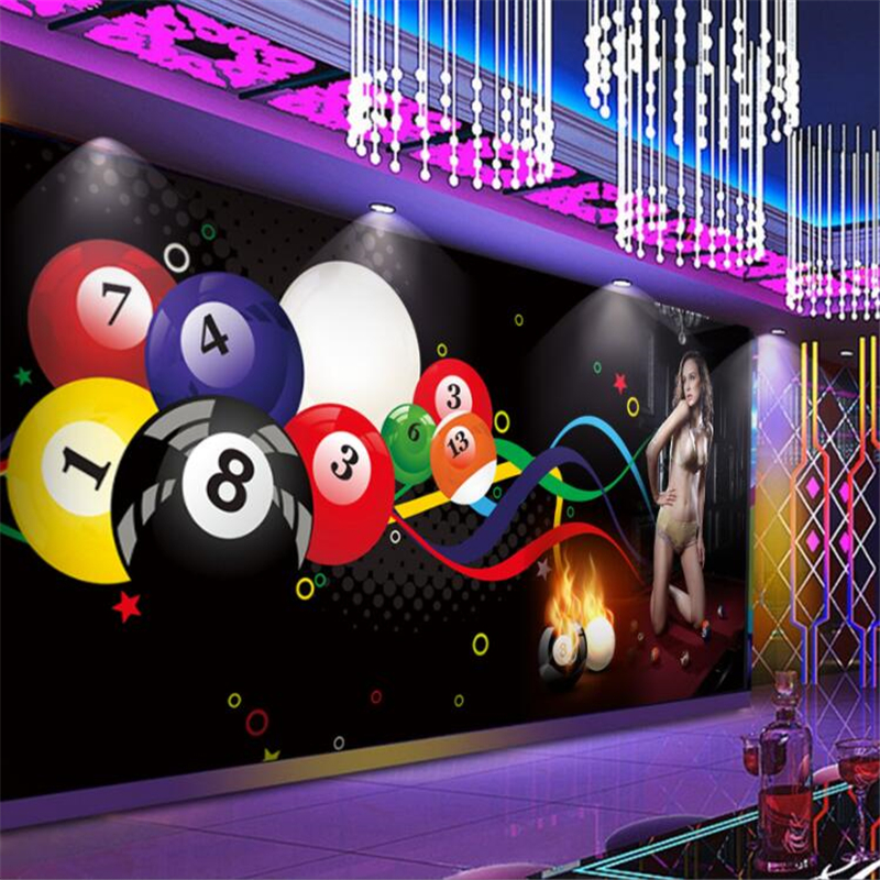 wellyu Custom mural <font><b>3d</b></font> billiard <font><b>sexy</b></font> beauty club gym tooling background <font><b>wall</b></font> decoration painting wallpaper papel de parede image
