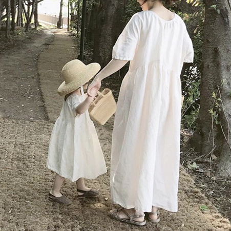 Summer Dress Korean Children's Clothes Parents And Children  Style Comfortable Parent-child Dress