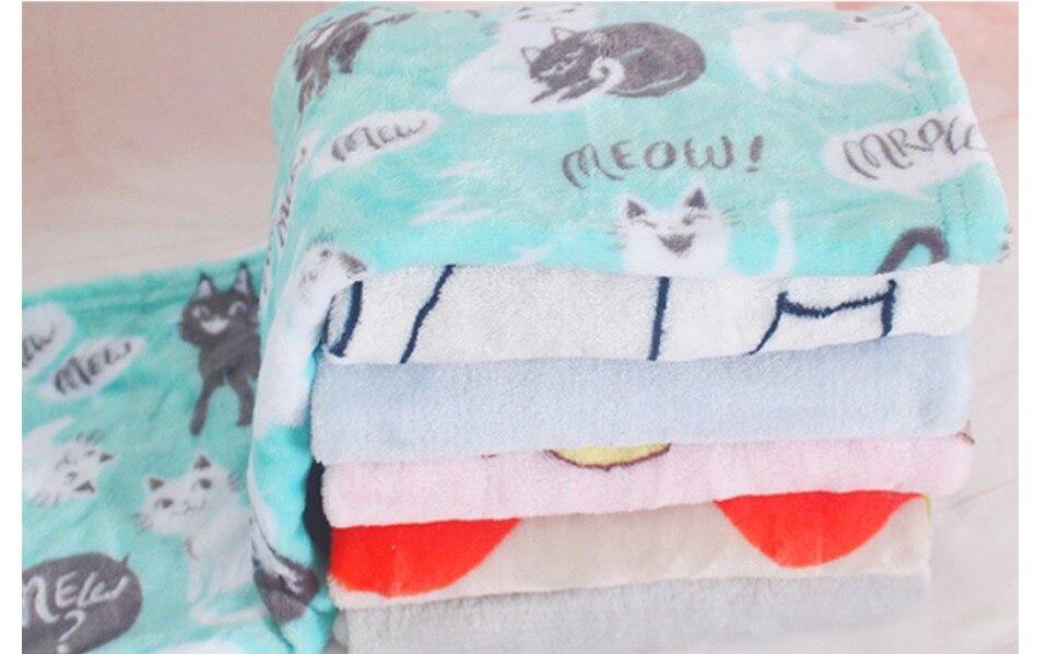Pet blanket cat Sleeping Mat Coral Fleece Keep warm Blanket Small Medium Dogs Cats Sleeping Winter Dog Cat Bed Mats Pet Supplies 30