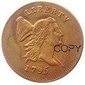 1795 Liberty Кепка правая половина центов 100% Медь копия монет