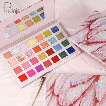 Pudaier 28 Colors Eyeshadow Makeup Lasting Palette Matte Pearl Eyeshadow Shimmer Glitter Eyeshadow Palette Eye Shadow Cosmetics фото