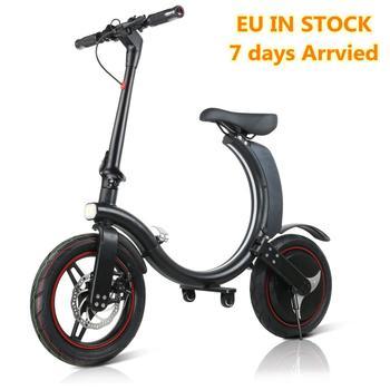 Motorino Bicicletta elettrica 14 pollici Pneumatici con 350W di Potenza Completa Pieghevole Lungo Raggio Bici Elettrica per Adulti UE IN MAGAZZINO 1