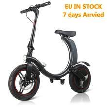 L'UE Stock! Pas de Taxe! Vélo électrique Scooter 14 pouces pneu avec 350W puissance pleine pliable longue portée vélo électrique adultes enfant