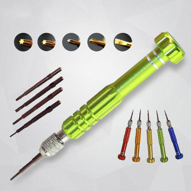 5 in 1 Precision Screwdrivers Set S2 Alloy Steel Bits Non-slip Handle for Mobile Cell Phone Tablet Repair Opening Tools