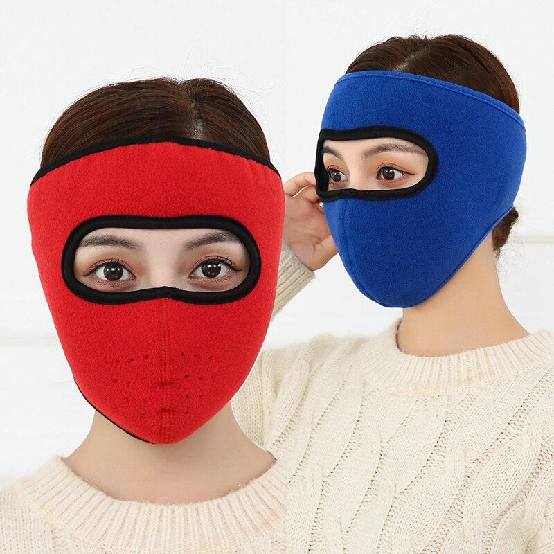 New Men Women Winter Warm Mask Fleece Earmuffs Riding Ski Snowboard Half Face Mask Mascara Ciclismo Hombre Mask Earmuffs