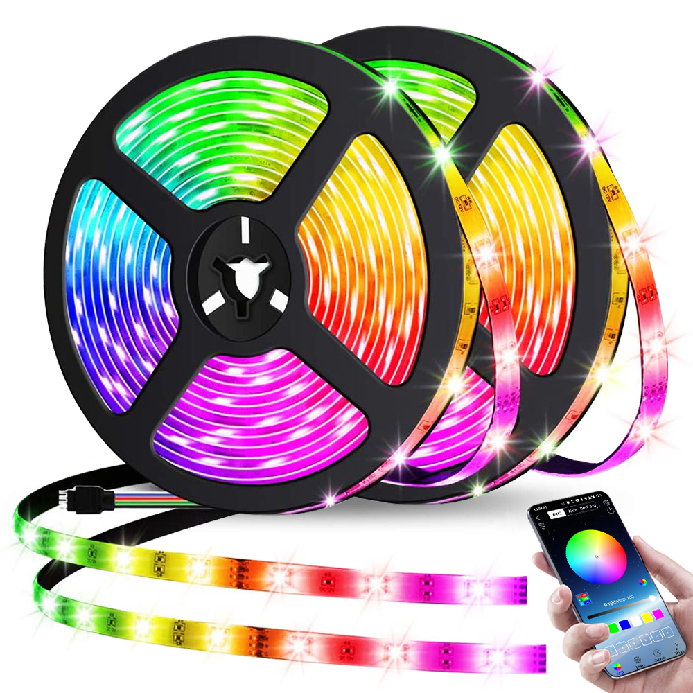 LED Strip Lights Bluetooth Control 5V RGB 2835 USB Flexible Lamp Tape Ribbon Diode For Festival Bedroom Luces TV Desk Decor Luz