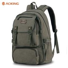 Canvas Casual Shoulder Backpack Men's Computer Bag Student School Bag Outdoor Travel Bag цена