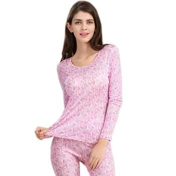 100% Pure Silk Women's Long Johns Sets Ladies Warm Clothing Femme Thermal Underwear Set Female Body Suits Women Long Johns Woman - DISCOUNT ITEM  40% OFF All Category
