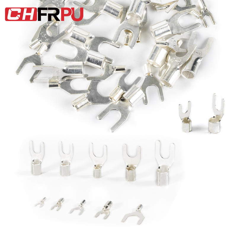 Terminal Cable-Wire-Connector Ring-Fork Assortment-Kit Non-Insulated Crimp Brass UT OT