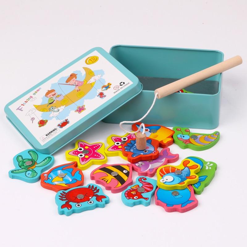 Juguetes Educativos para bebés, juguetes de pesca de gatito, juguetes magnéticos de madera para niños de 1 a 3 años de edad, desarrollo inteligente 3D Delune primaria mochilas de escuela para niñas de búho de dibujos animados los niños ortopédicos libro carteras 6-108 Mochila de grado 1-3