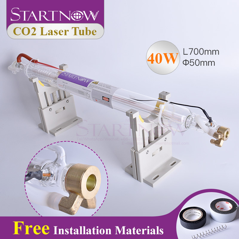 Startnow CO2 Laser Tube 40W 700mm Glass Laser Lamp For CO2 Laser Engraving Machine Pipe Carving Cutting Marking Spare Parts