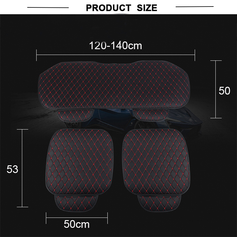 Image 2 - Automobiles Seat Covers Car Cushion PU Leather Universal Auto Interior Accessories Four Season Protect Set Chair Mat Car styling