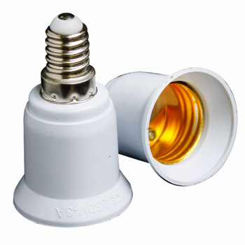 Converters E14 TO E27 LED Halogen CFL Light Bulb Lamp Adapter Fireproof Socket Plug Extender Screw Base Bulb Lamp Holder image