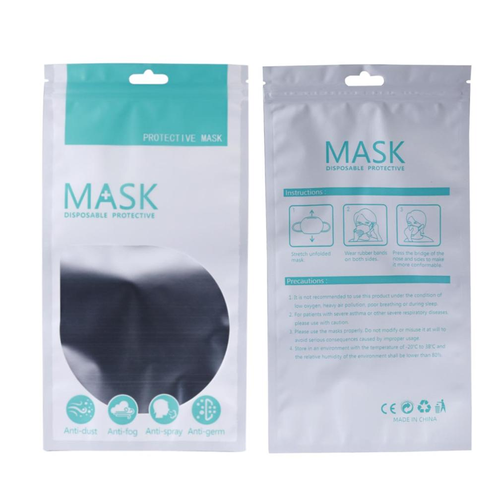 10pcs Portable Foldable Disposable Face Mouth Mask Self Sealing Storage Bag Waterproof Bags Disposable Packaging Bag Wholesale