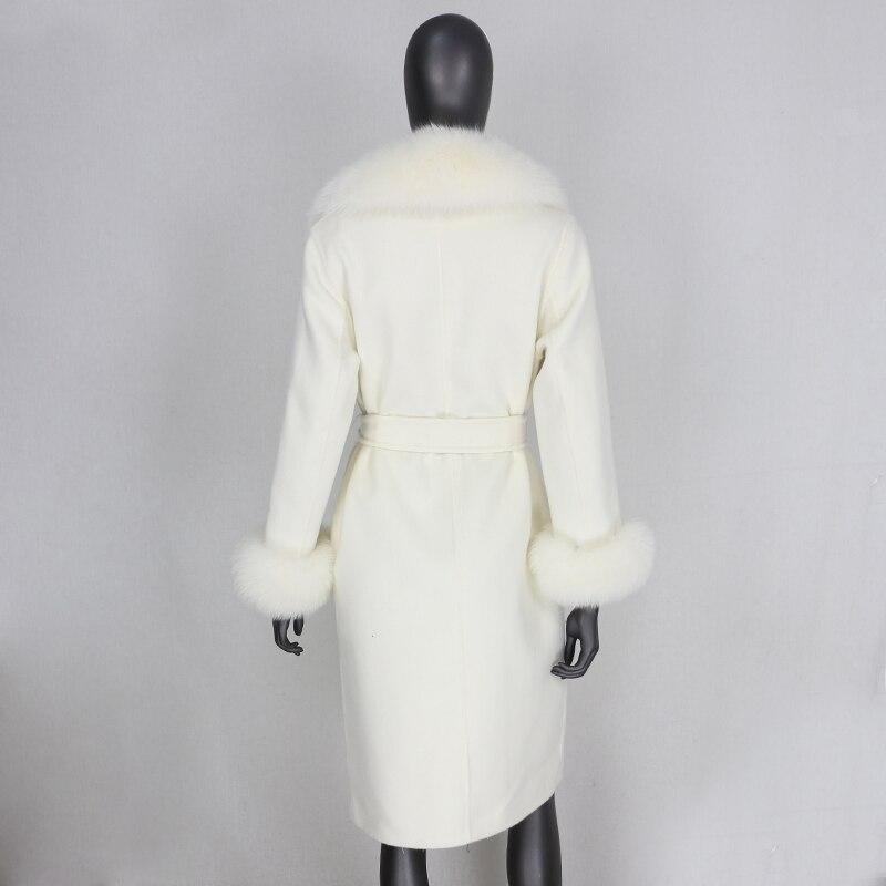 H41855ef2a06d4ee6a6b6605166f4cf16w 2021X-Long Natural Mongolia Sheep Real Fur Coat Autumn Winter Jacket Women Double Breasted Belt Wool Blends Overcoat Streetwea