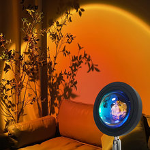 Sunset Projection Night Lights Live Broadcast Background Like Galaxy Projector Atmosphere USB Rainbow Lamp Bedroom Decoration