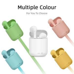 Image 5 - Auriculares TWS Mini 2 inalámbricos por Bluetooth 5,0, Auriculares deportivos con micrófono y caja de carga para iPhone y Xiaomi PK i9s i7s