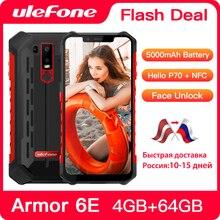 Téléphone portable robuste Ulefone Armor 6E IP68 étanche NFC Helio P70 otca core Android 9.0 4 go + 64 go Smartphone de Charge sans fil