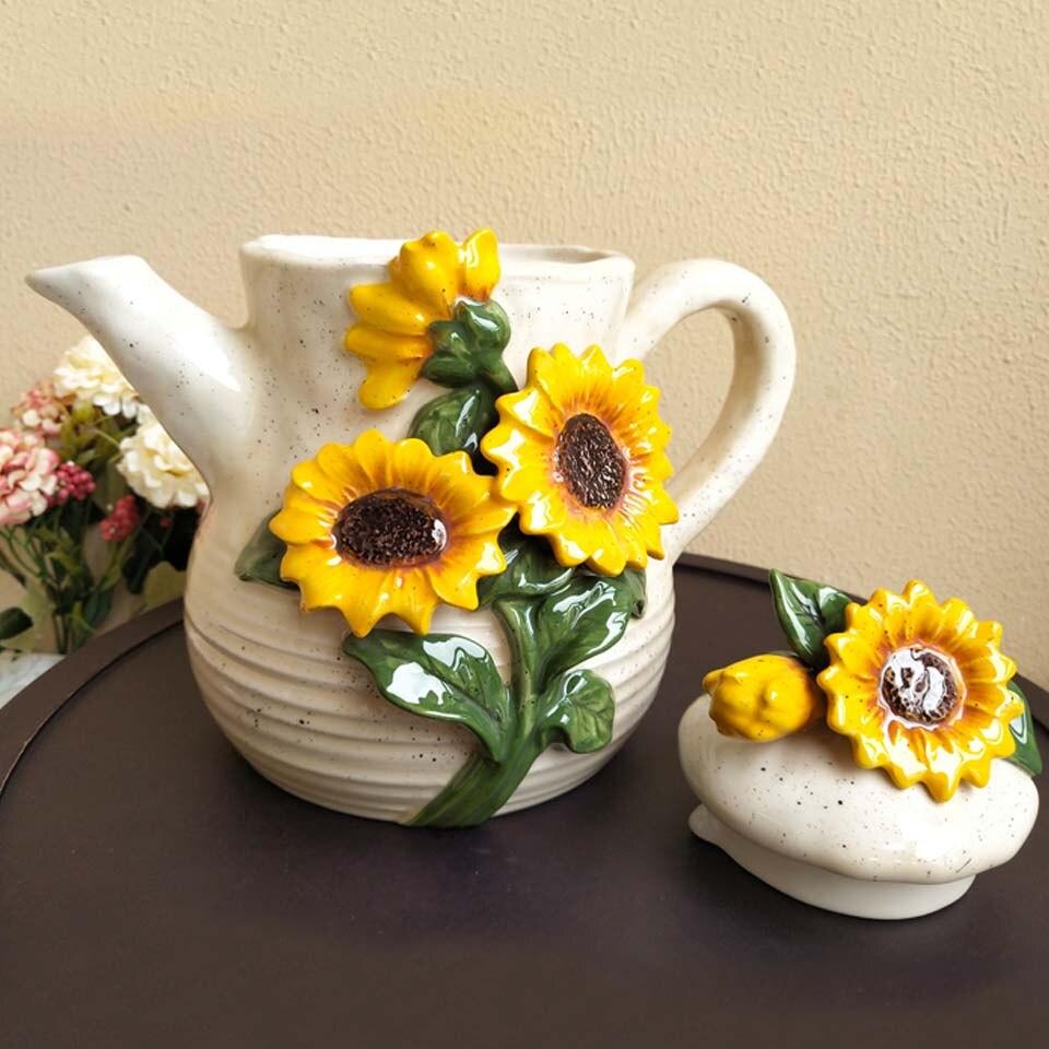 estilo europeu 3d sol flor decoração para
