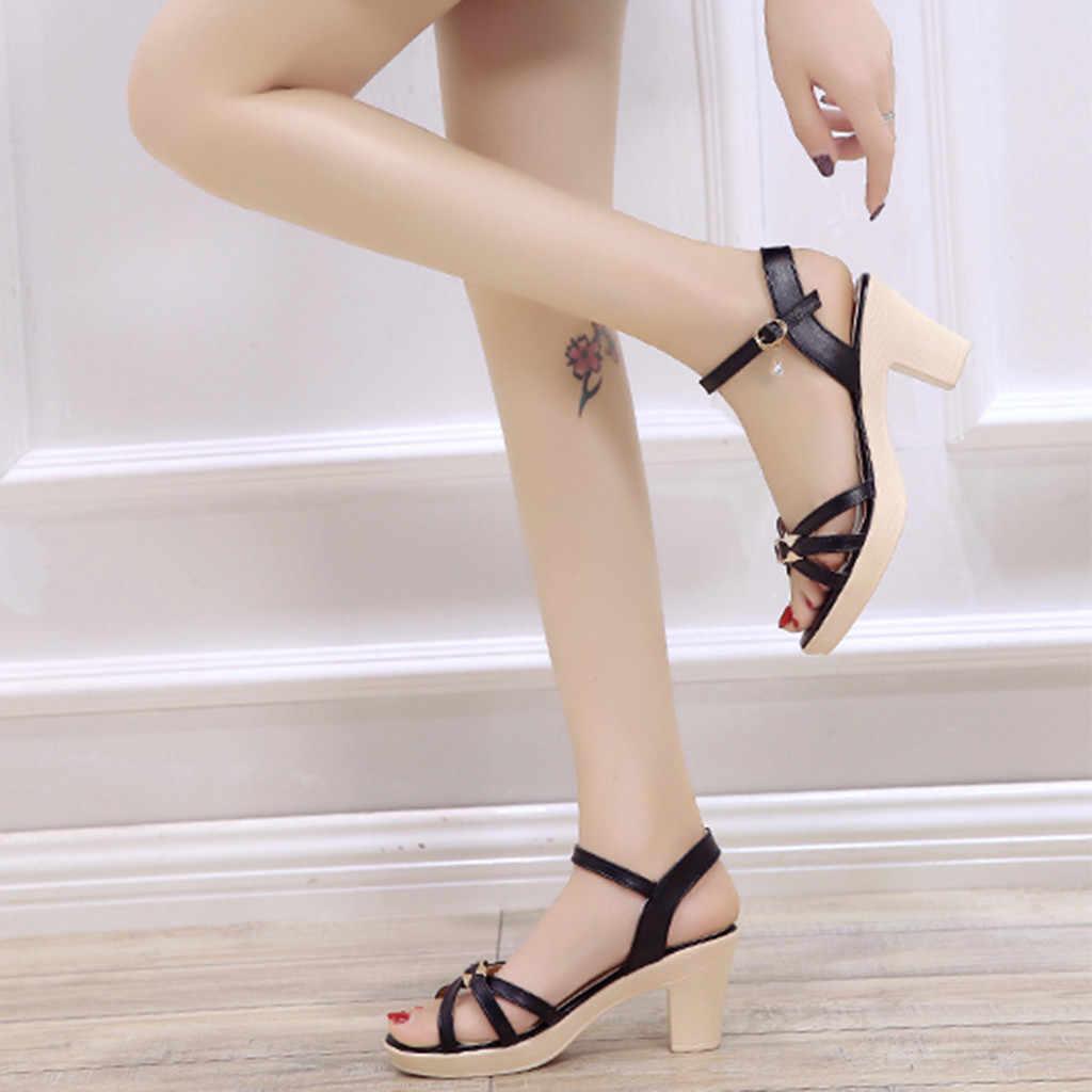 אופנה מזדמן פיפ הבוהן עבה העקב לעבוד נעלי נשים עקב גבוהה סנדלי פלטפורמת משרד גבירותיי zapatos de mujer tacon bajo # G10