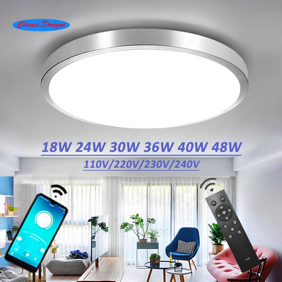 Ceiling Led Lighting Lamps Modern Bedroom Living Room Lamp Surface Mounting Balcony 18w 24w 30w 36w 40w 48w AC 110V/220V Ceiling