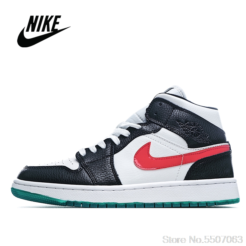 Originale NIke Air Jordan 1 Metà di 35th Anniversary Corrispondenza Dei Colori degli uomini e delle Donne Scarpe Da Basket Size 36-45 CZ4385 016