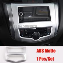 ABS Matte Car navigation panel Cover Trim Car Sticker Car Styling For Nissan Navara NP300 2017 2018 2019 accessories 1pcs qcbxyyxh abs car styling for nissan terra navara np300 2018 2019 car navigation frame sequins internal decoration cover