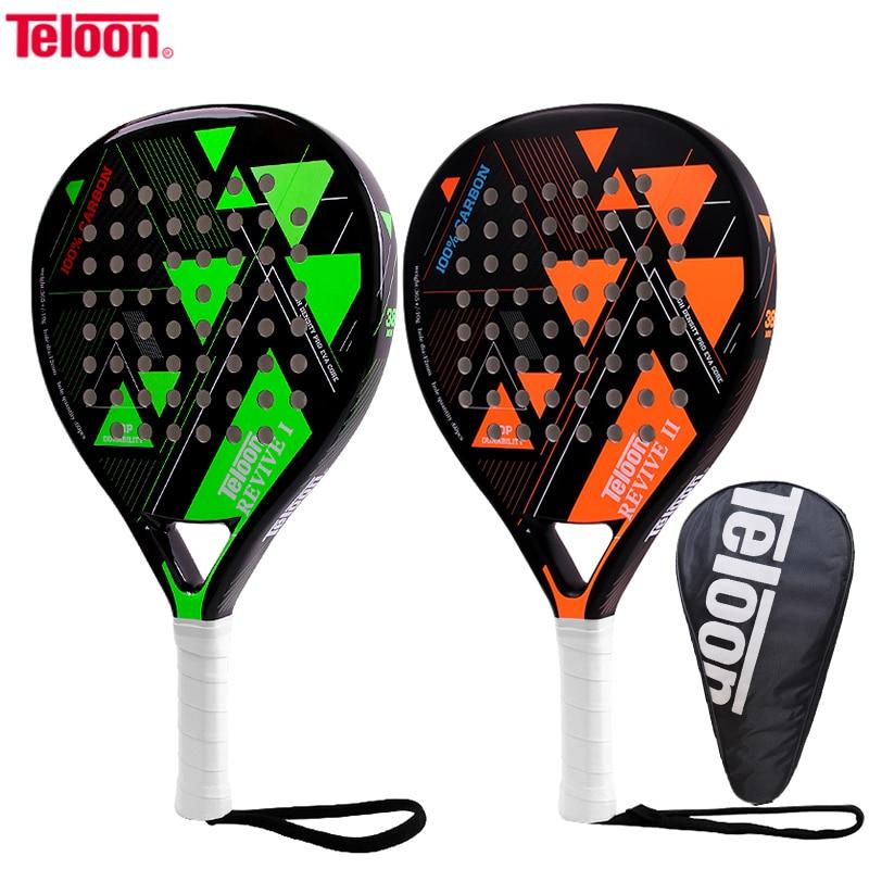 Teloon Padel Tennis Racket Beach Rackets Carbon Fiber Paddle Tennis Racquet  Ball Overgrip EVA Face Women Men Cricket Bat Rackets Tennis Rackets  -  AliExpress