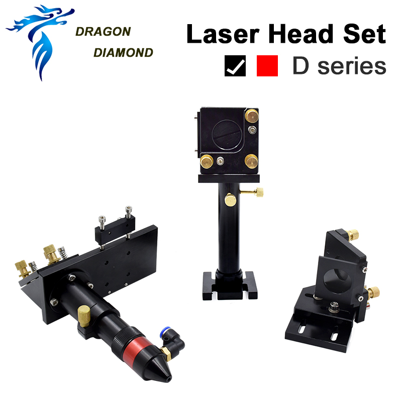 CO2 Laser Head Focusing Lens D20mm FL50.8 & 63.5 & 101.6mm  Mirrors 25mm For Laser Engraving Cutting Machine