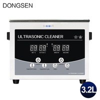 Portable Ultrasonic Cleaner Heated Timer Jewelry Fruit Vegetable Dishes Eyeglasses Manicure Razor Ultrasonic Cleaning Machine 3L