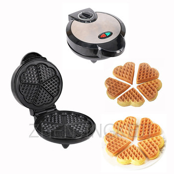 Waffle Maker Stainless Steel Triangle Plum-shaped Muffin Maker Home Use Breakfast Cake Machine Toaster 1200W Electric Baking Pan цена 2017